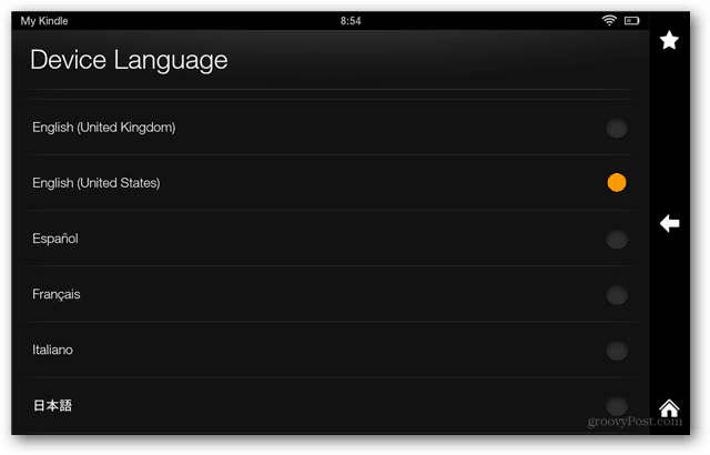 How to Change the Kindle Fire Default Language