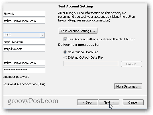 Outlook 2010 SMTP POP3 IMAP settings - 08