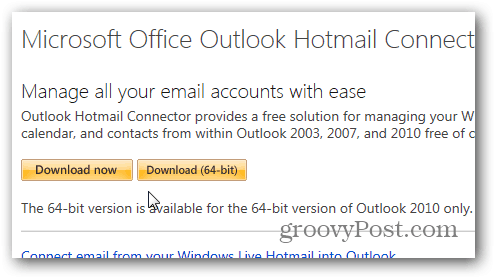 Outlook.com Outlook Hotmail Connector - Download