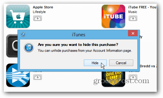 How to Hide App Purchases from iTunes Store