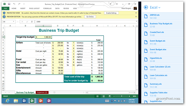 Excel Dropbox Snap To