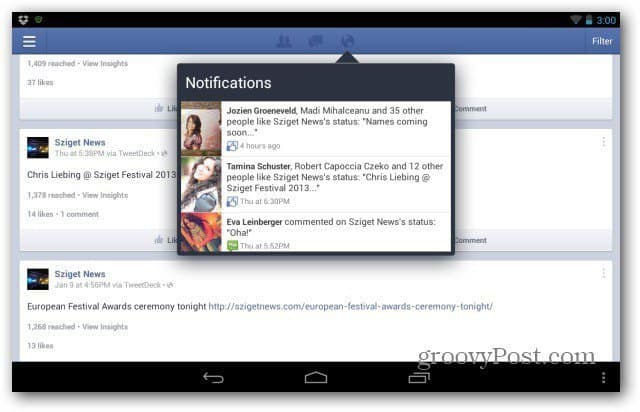Facebook Pages for Android main