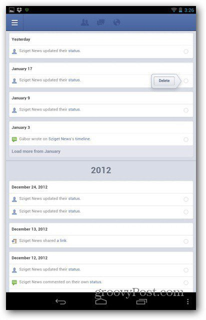 Facebook pages manager activity log