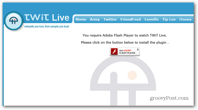 Flash Site Unaproved