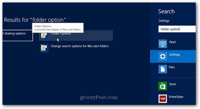 Folder Search Results