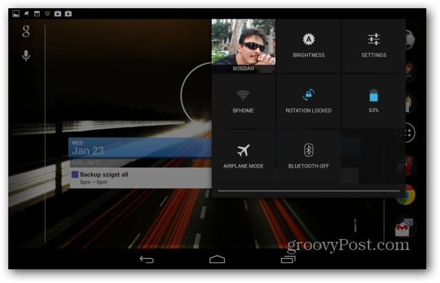Google Nexus 7 set screen orientation