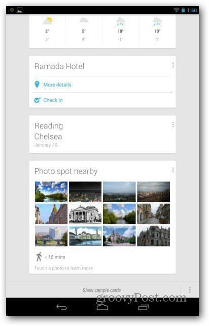Google Now local landmarks