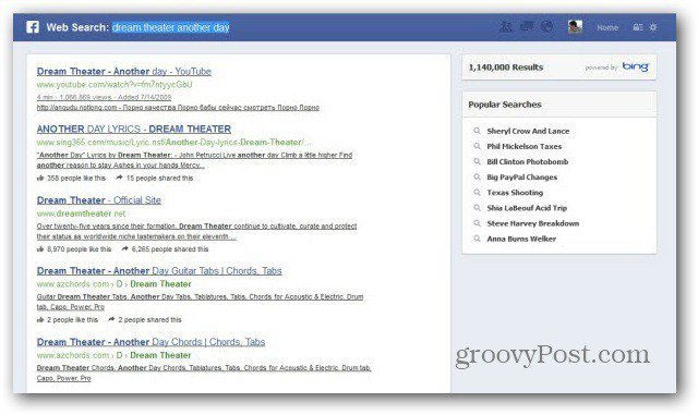 Graph Search web