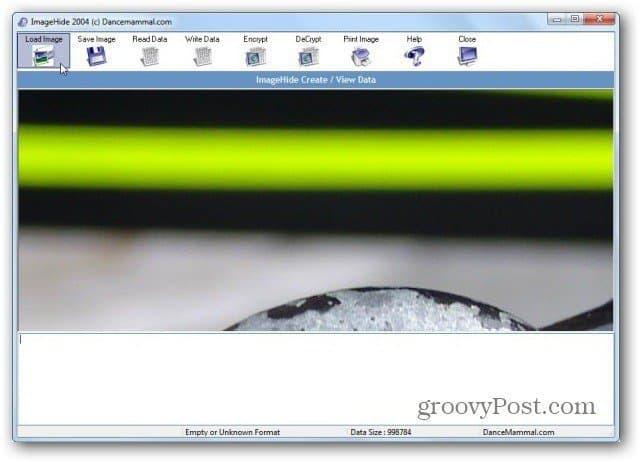 ImageHide load image
