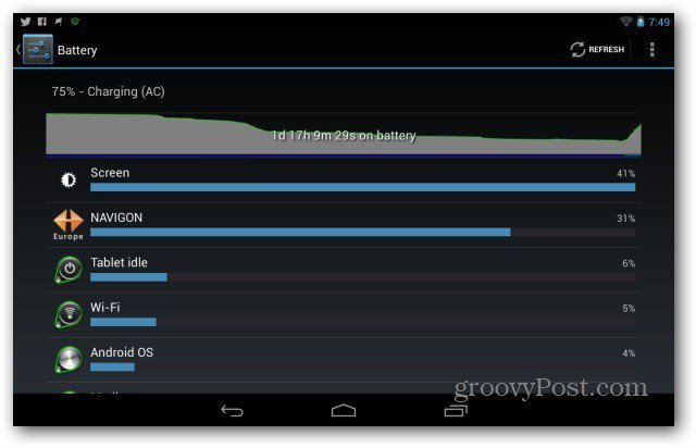 Improve Google Nexus 7 battery life