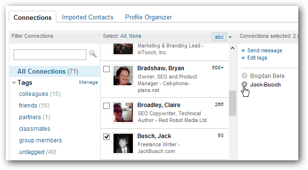 LinkedIn Connection Contacts