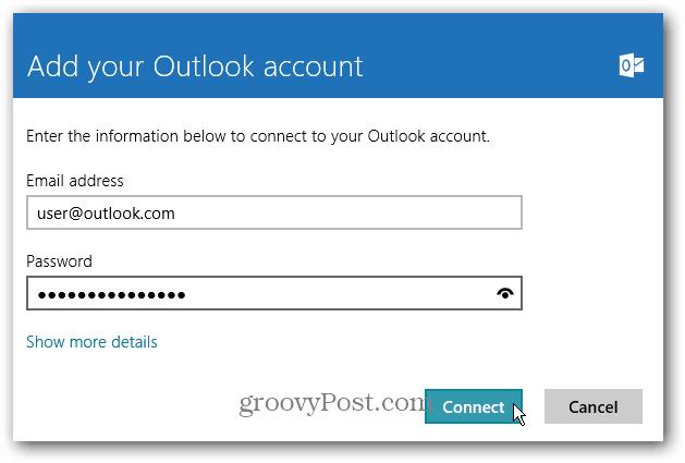 Mail Account Win8