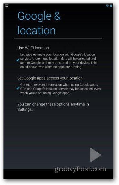 Nexus 7 user accounts - Google Location