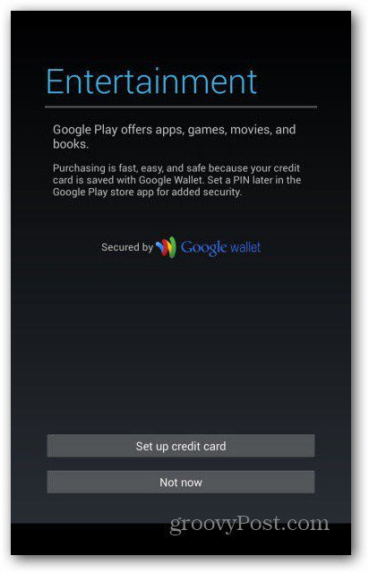 Nexus 7 user accounts - Google Wallet