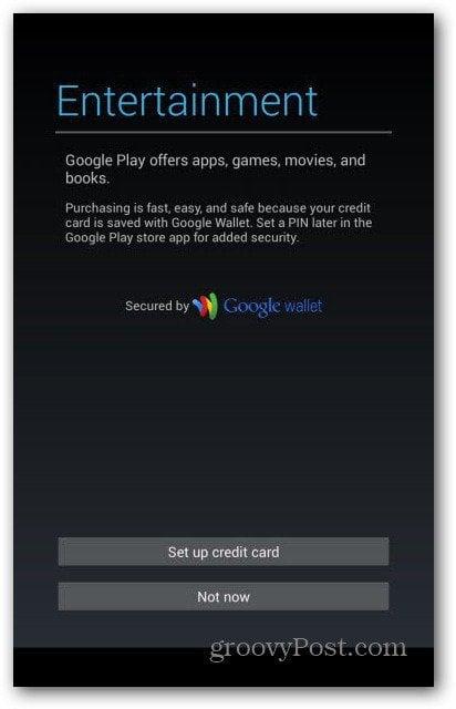 Nexus 7 user accounts - Google Wallet