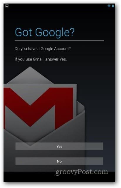 Nexus 7 user accounts - google account