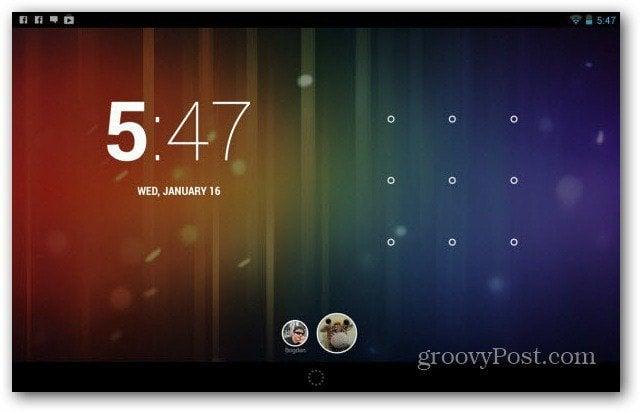 Nexus 7 user accounts main