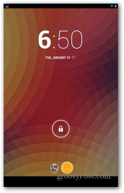 Nexus 7 user accounts new user appeared