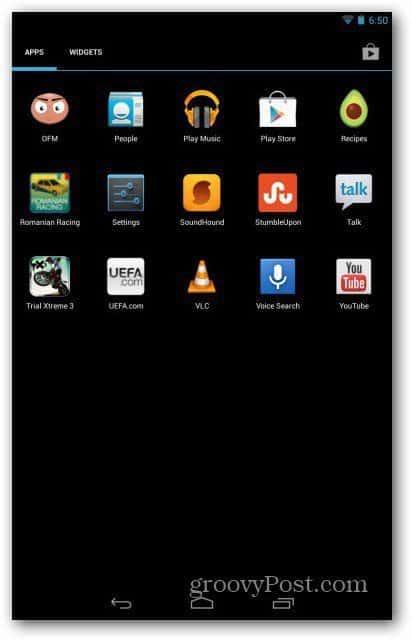 Nexus 7 user accounts - settings