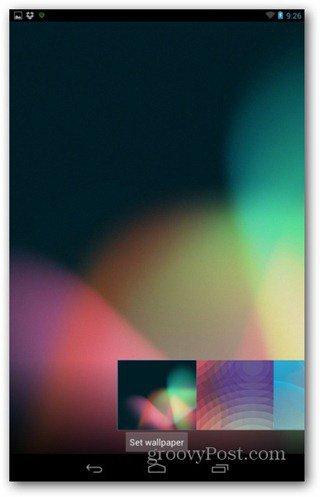 Nexus 7 wallpaper choose