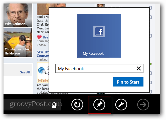 Pin Facebook Web App
