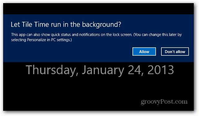 Run App Background