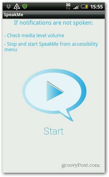 SpeakMe for Android Start