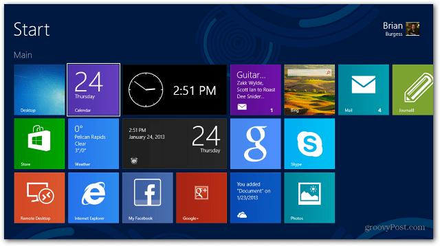 Start Screen Apps