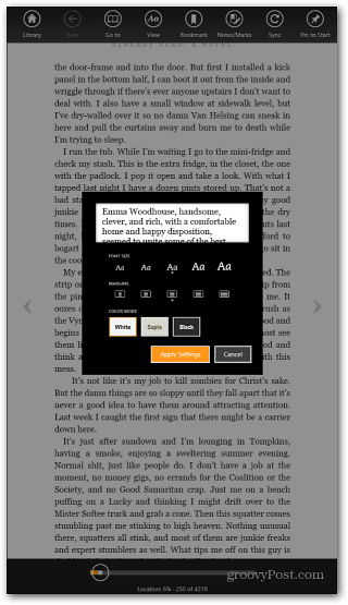 Surface RT Kindle App