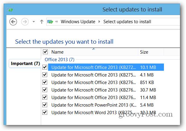 Update the Update