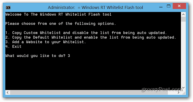 WIndows RT Whitelist FLash Tool
