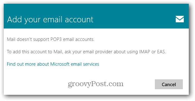 Windows 8 Mail Message