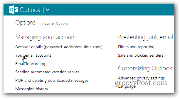 Your Email Accounts