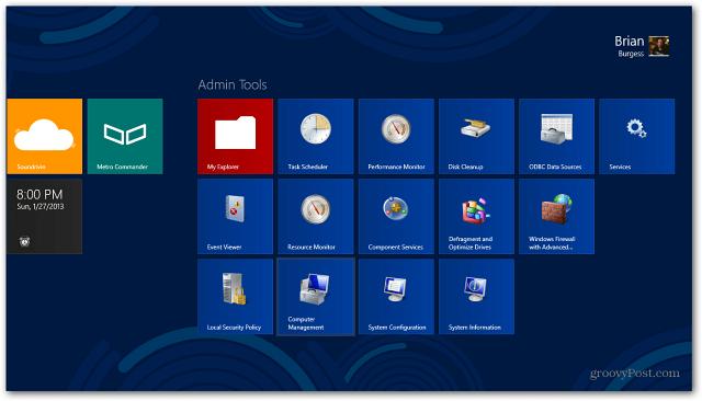 admin tools on Start