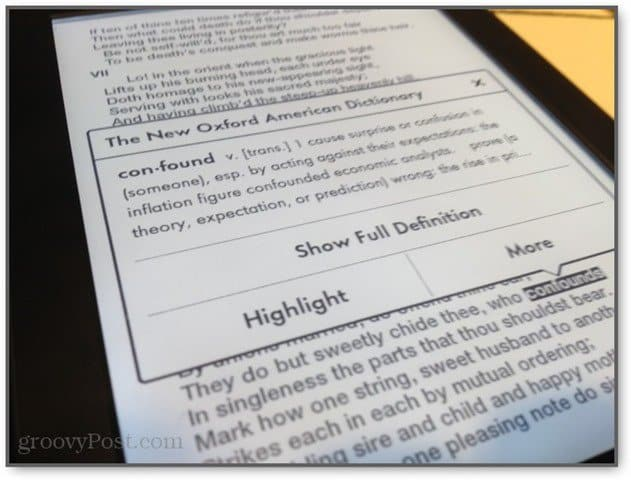 interacting with kindle content from the paperwhite