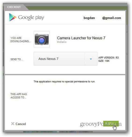 google nexus 7 install camera