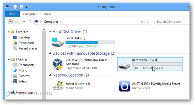 usb device in virtualbox machine