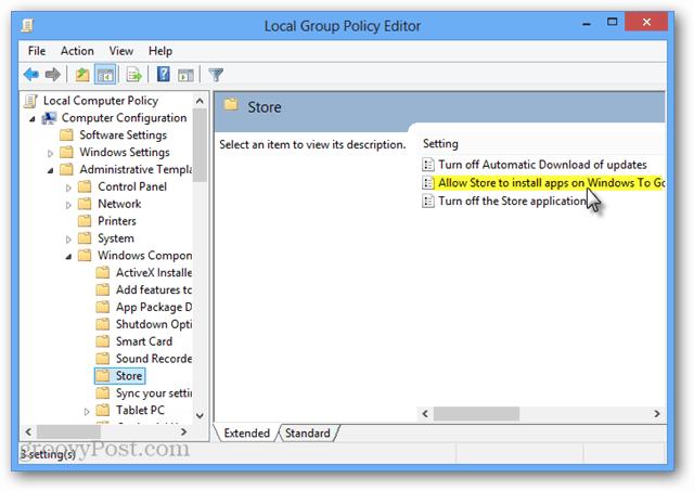 gpedit store Windows To Go settings