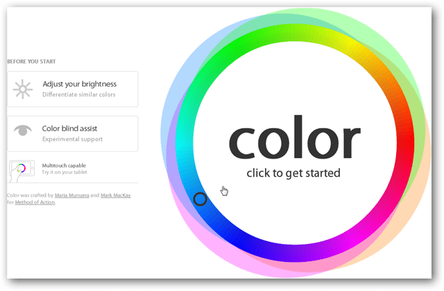 color wheel to start