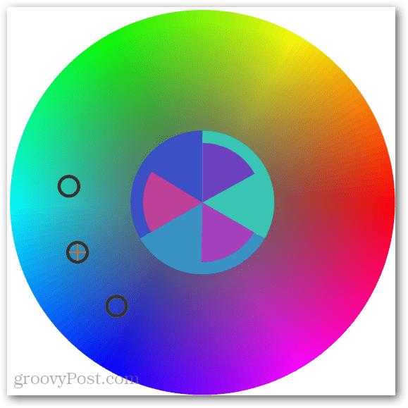 selecting three colors