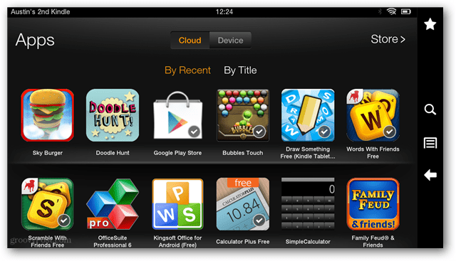 download amazon apps from cloud to device