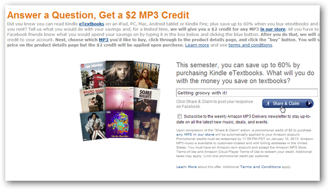 amazon mp3 credit for $2