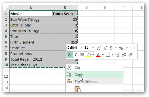 copy table
