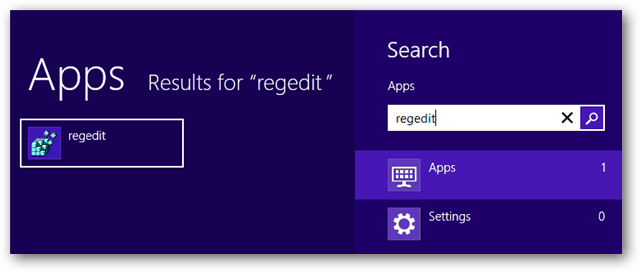 windows 8 apps regedit