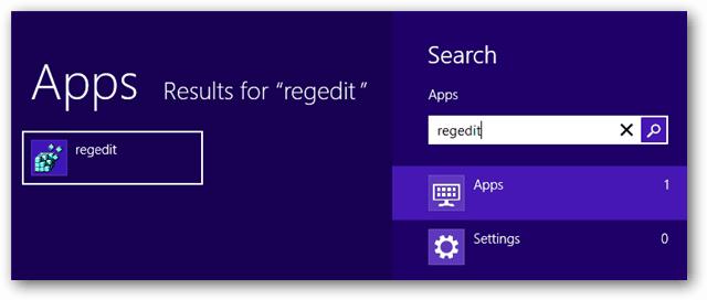 windows 8 apps regedit