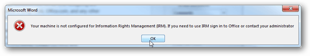 IRM error