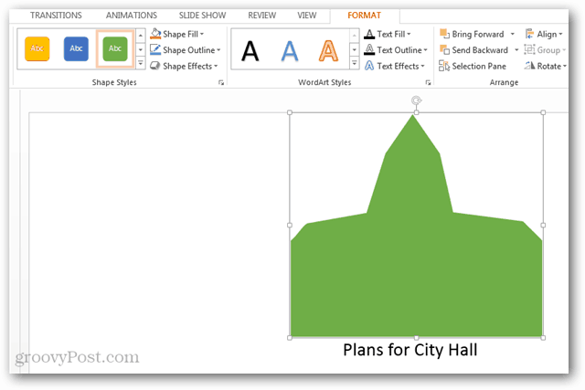 example custom shape created in powerpoint 2013