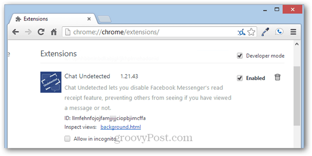 remove chat undetected from chrome