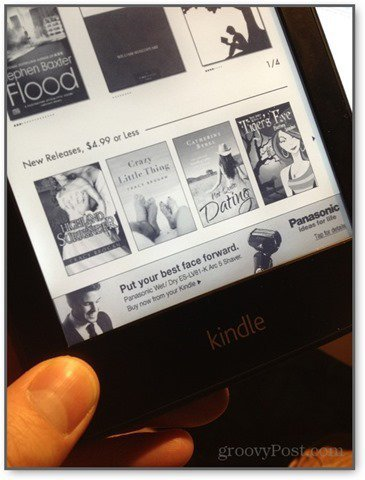 kindle paperwhite offers show ad banners on the home screen