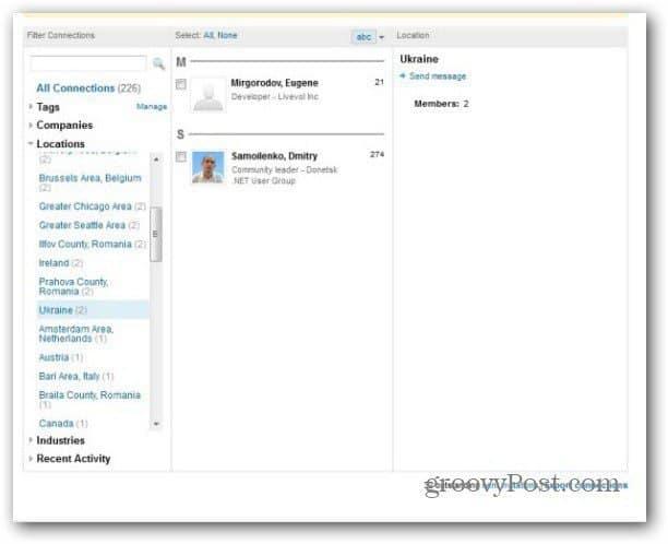linkedin remove contact search